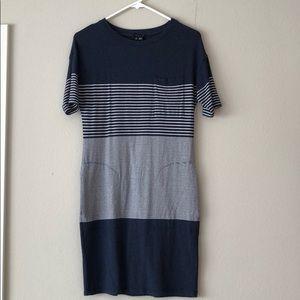 Theory stretchy knit t-shirt dress